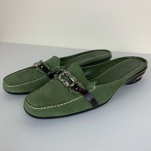 Cole Haan Nike Air Green Suede Loafer Mule 7.5